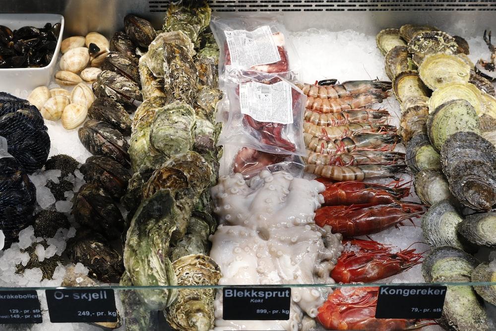 assorted sea foods