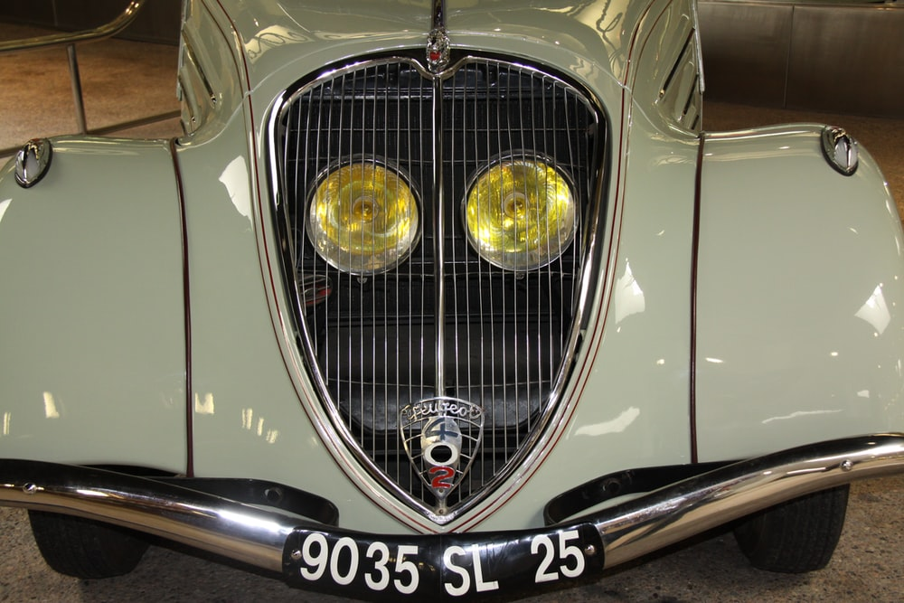 white Alfa Romeo car