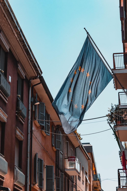 flag on road