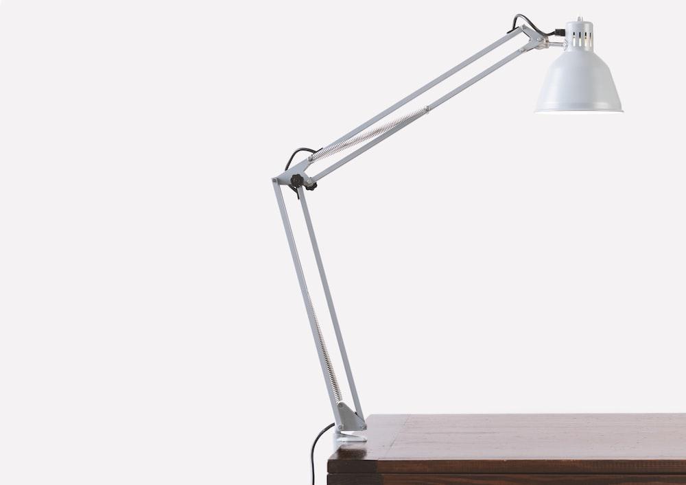 balanced-arm desk lamp