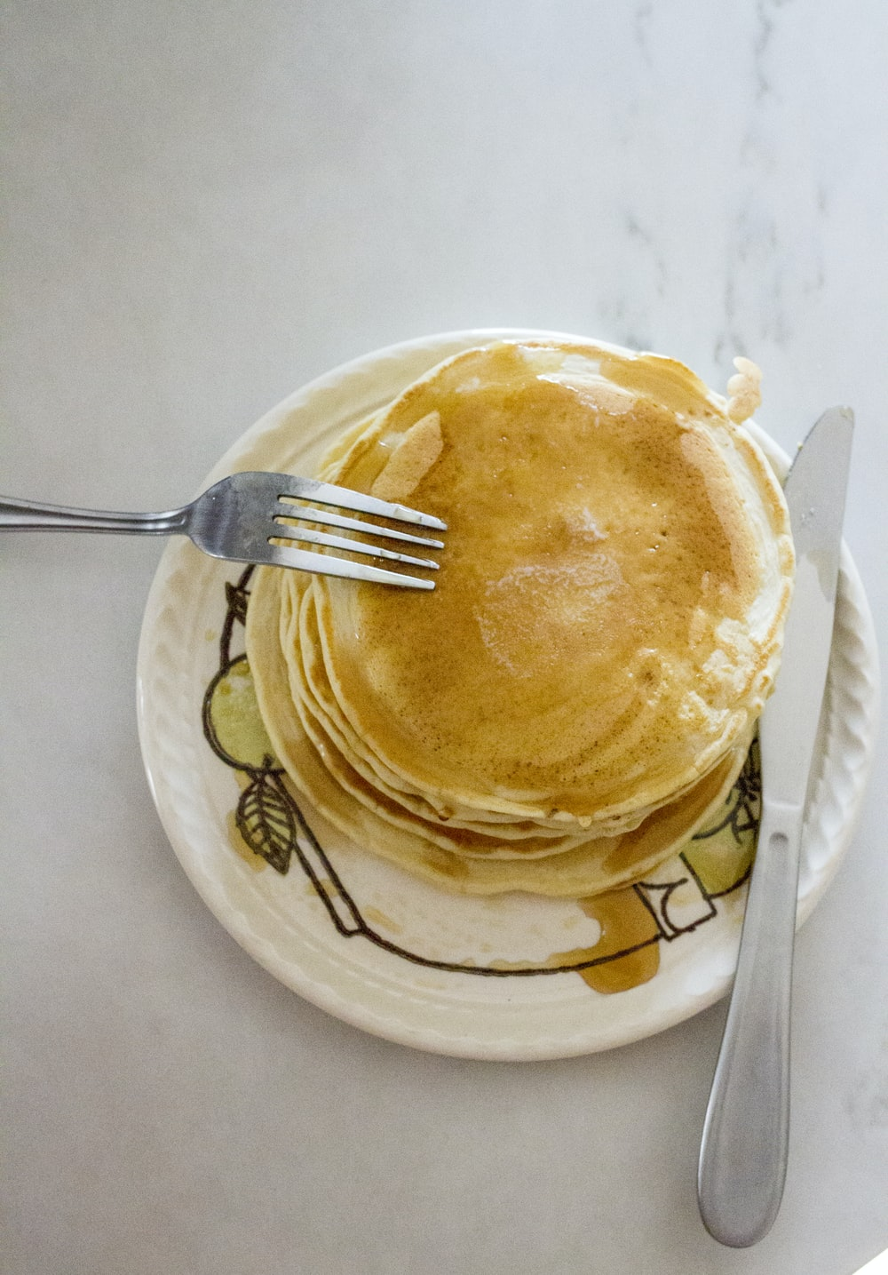 pancake in the plate