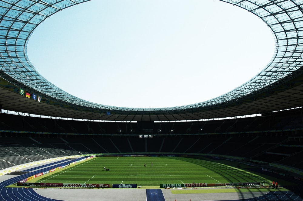 view photography of football stadium