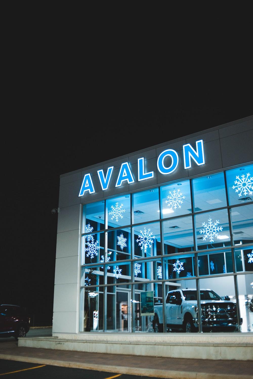 white vehicle inside Avalon building