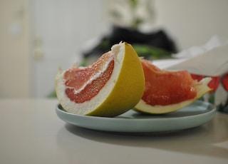 sliced ponkan fruits on plate
