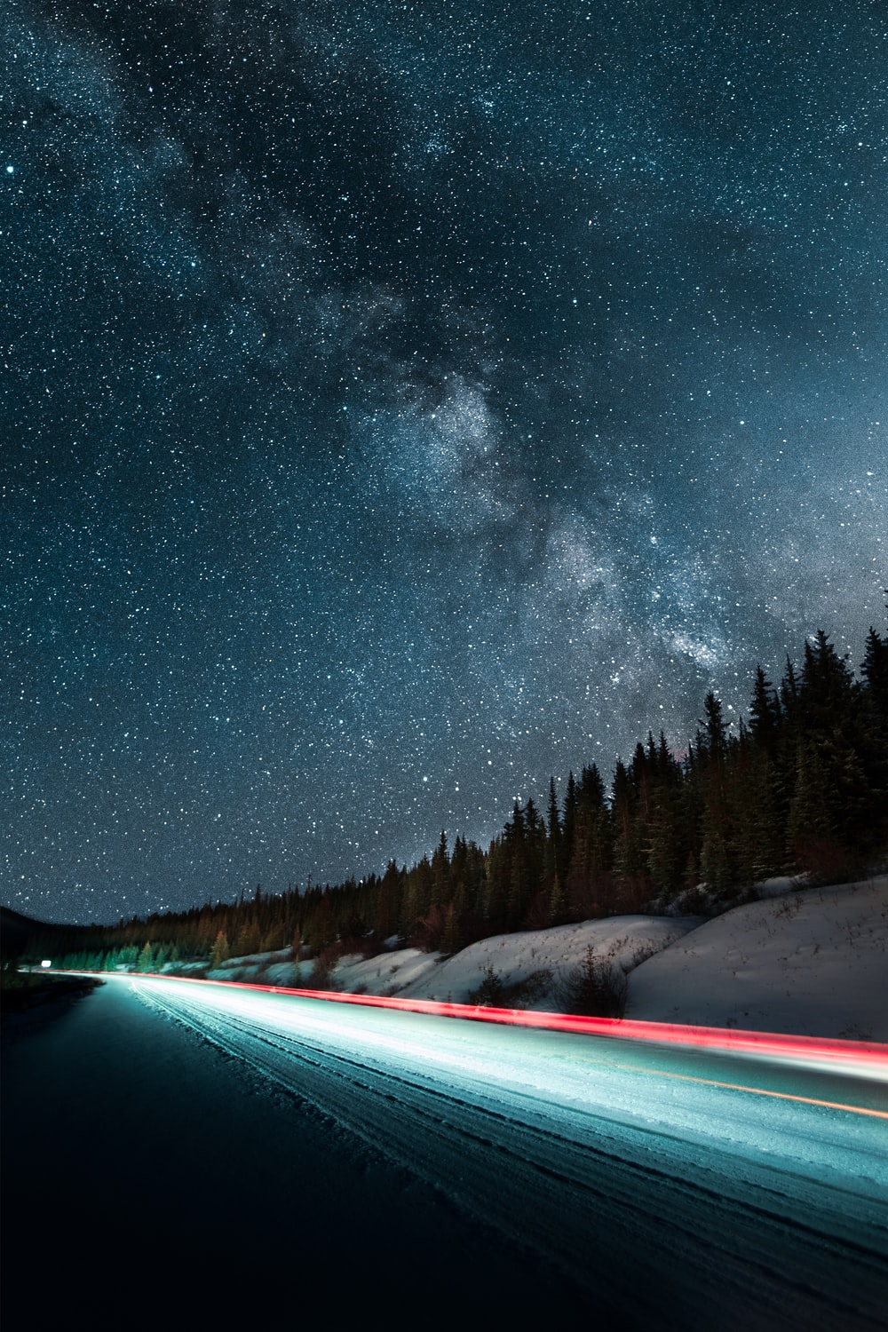 long-exposure photography of vehicle light