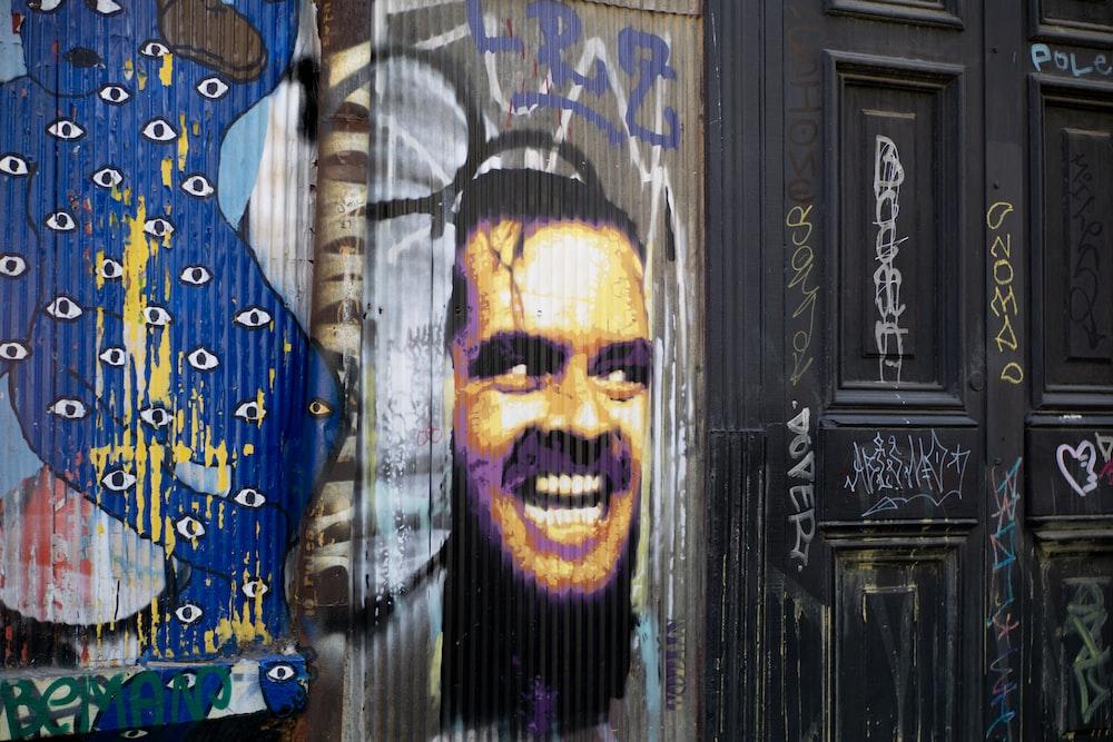The Shining Jack Nicholson mural beside closed door
