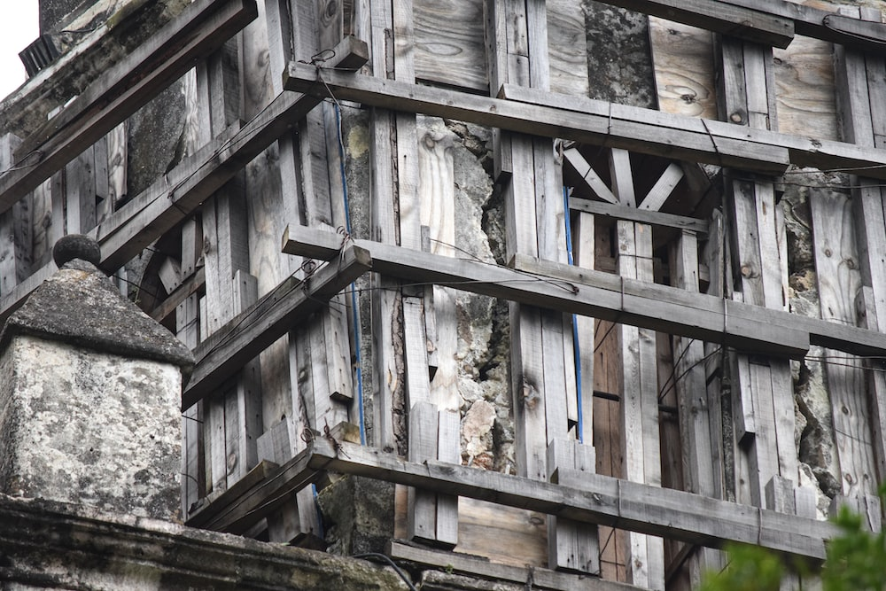 gray wooden building during day