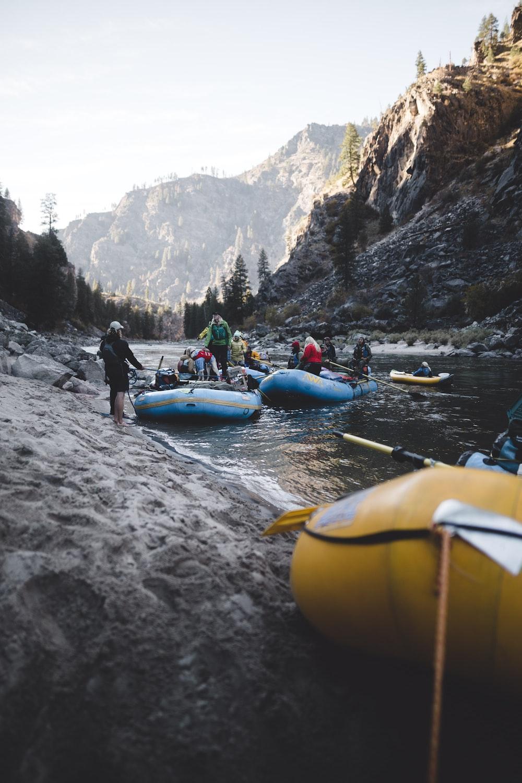 people on raft