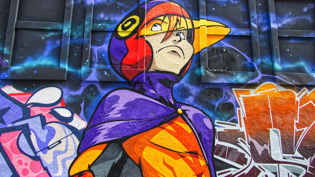 Peinture murale réalisée par Esprit un artiste suisse