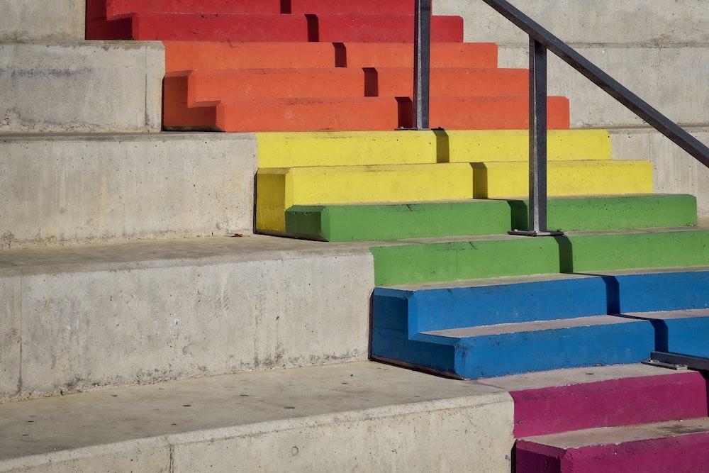 multicolored staircase