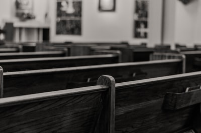 empty church pews court teams background