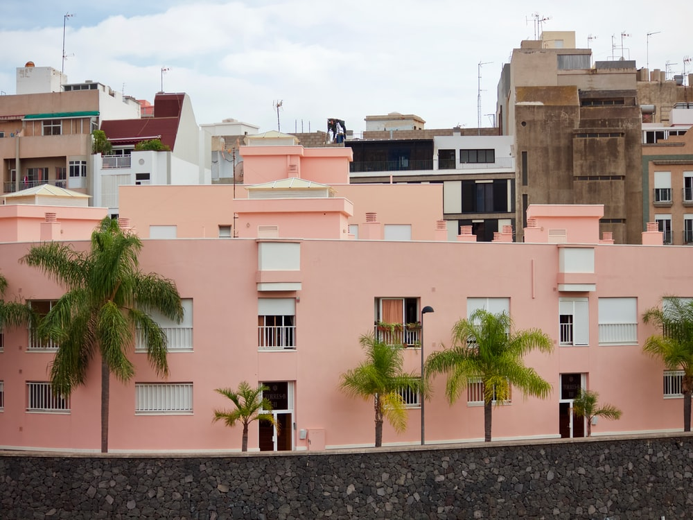 pink concrete house