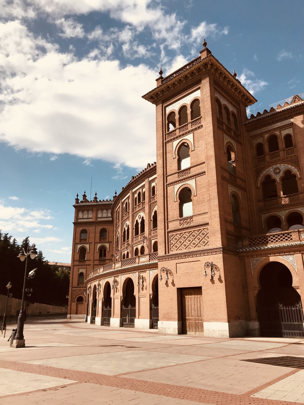 Las Ventas in Madrid under white and blue sky during daytime