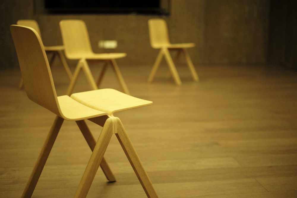 beige wooden table