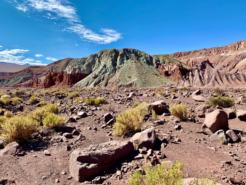 rocky mountain in atacama desert