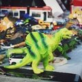 variety of dinosaur action figures