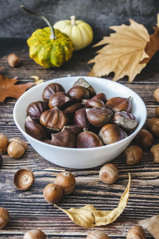 bunch of hazel nuts