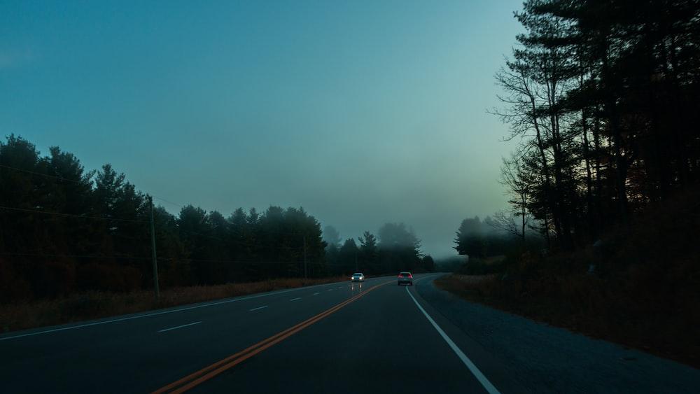 asphalt road scenery