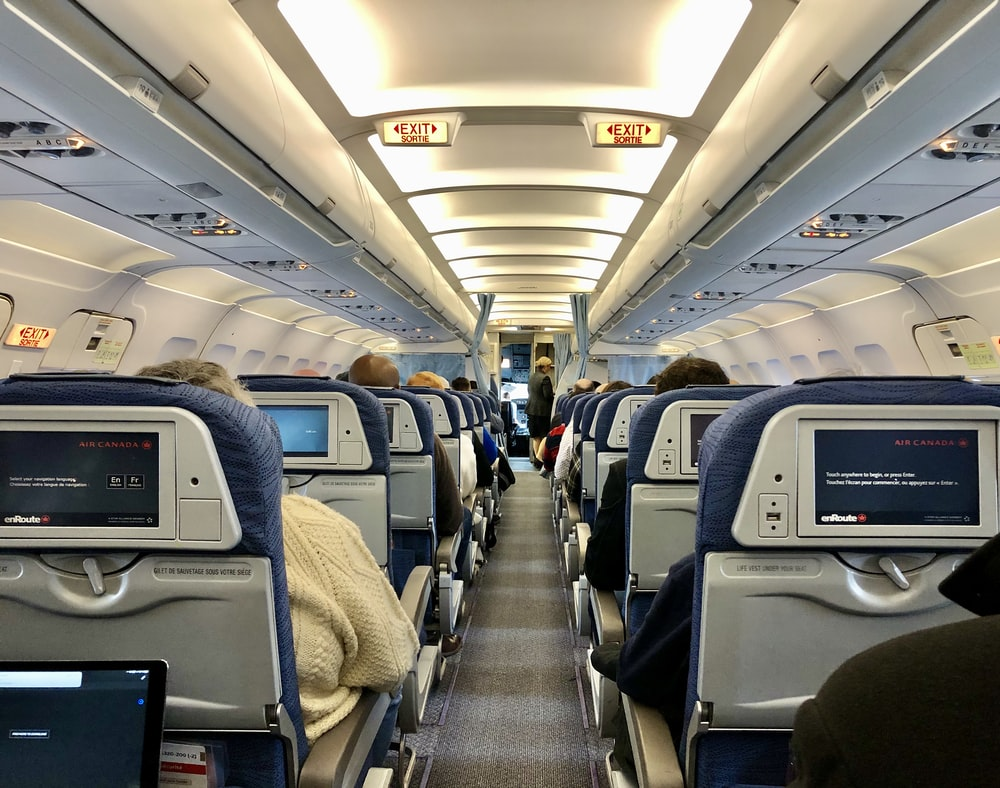 people in airplane