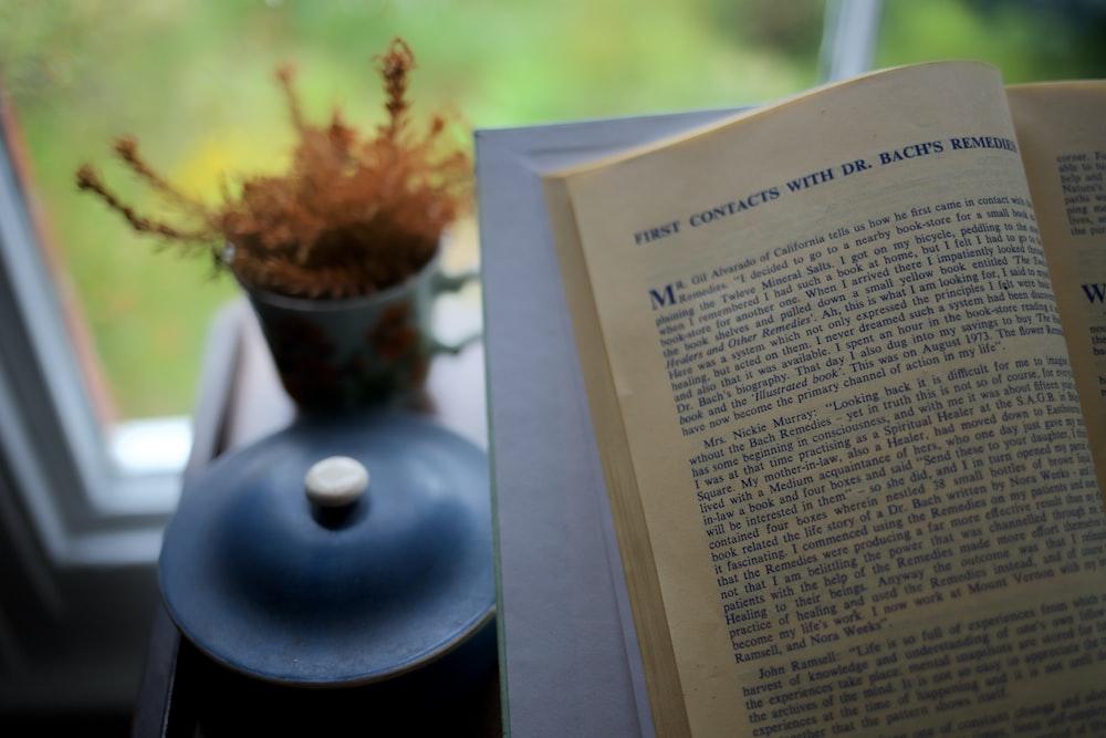 selective focus photography of an open book