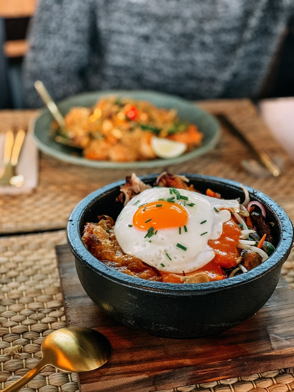 bowl of rice and eggs