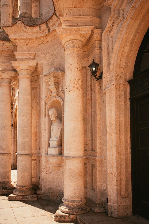beige concrete columns during daytime