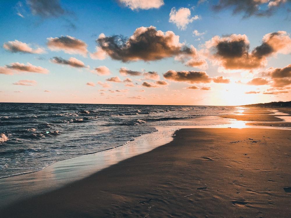 beach during golden hour