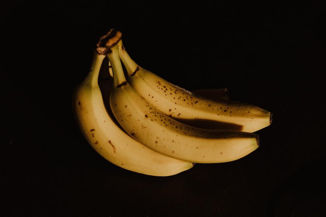 A ripened banana