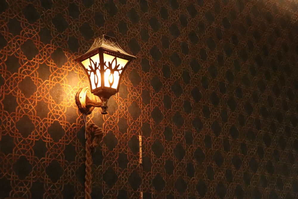 lighted wall sconce lamp