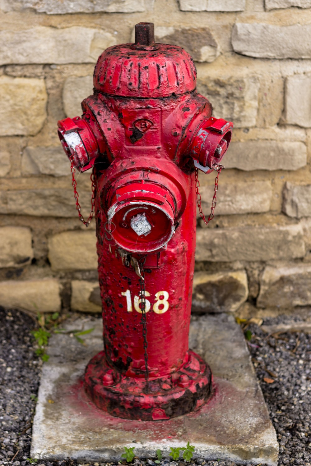 red 168 metal fire hydrant