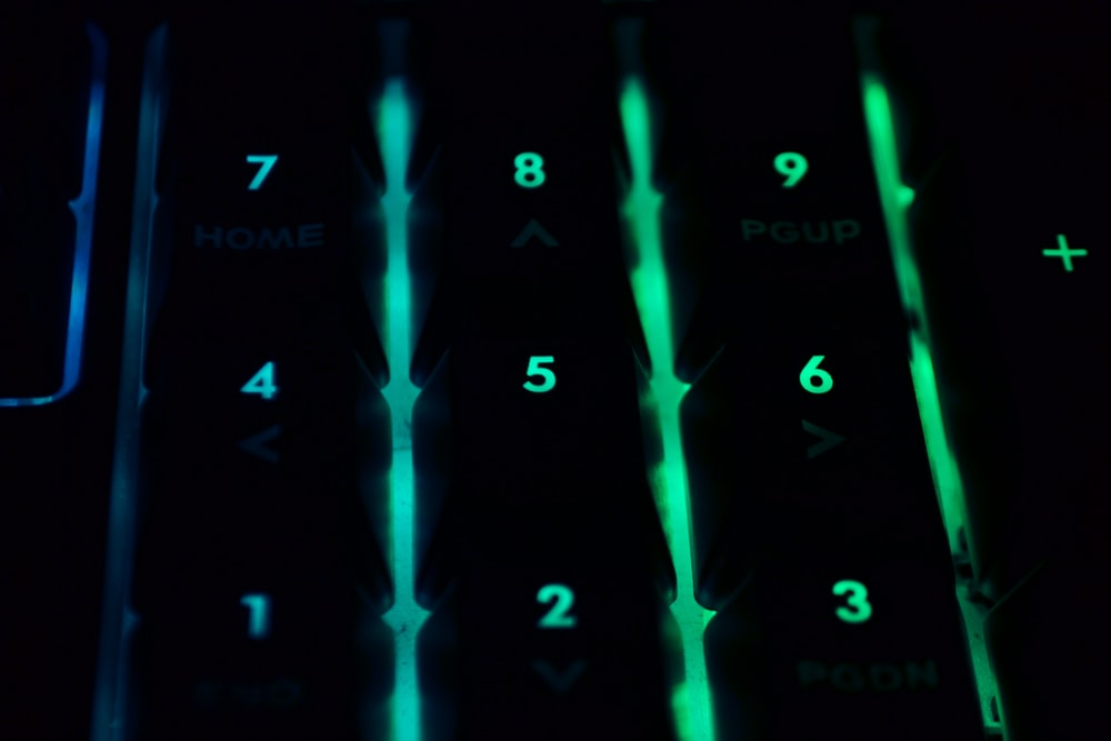 green LED numbers