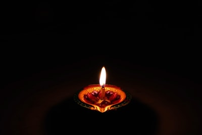 lighted scented candle diwali zoom background