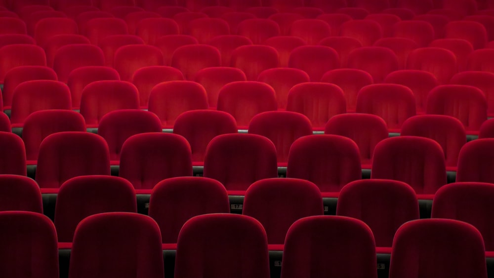 red padded theater chairs