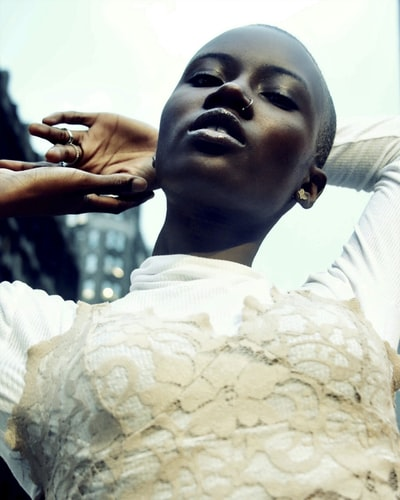 Female model shot by portrait photographer, Julian Myles