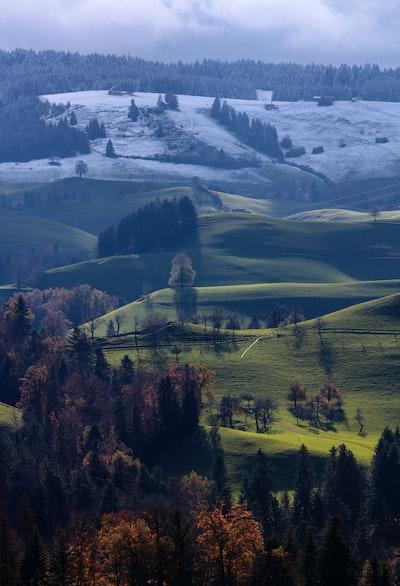 Winter meets autumn