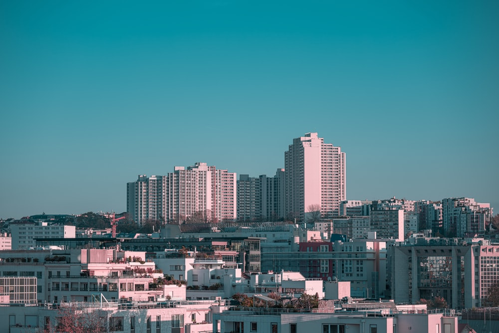 white high-rise buildings
