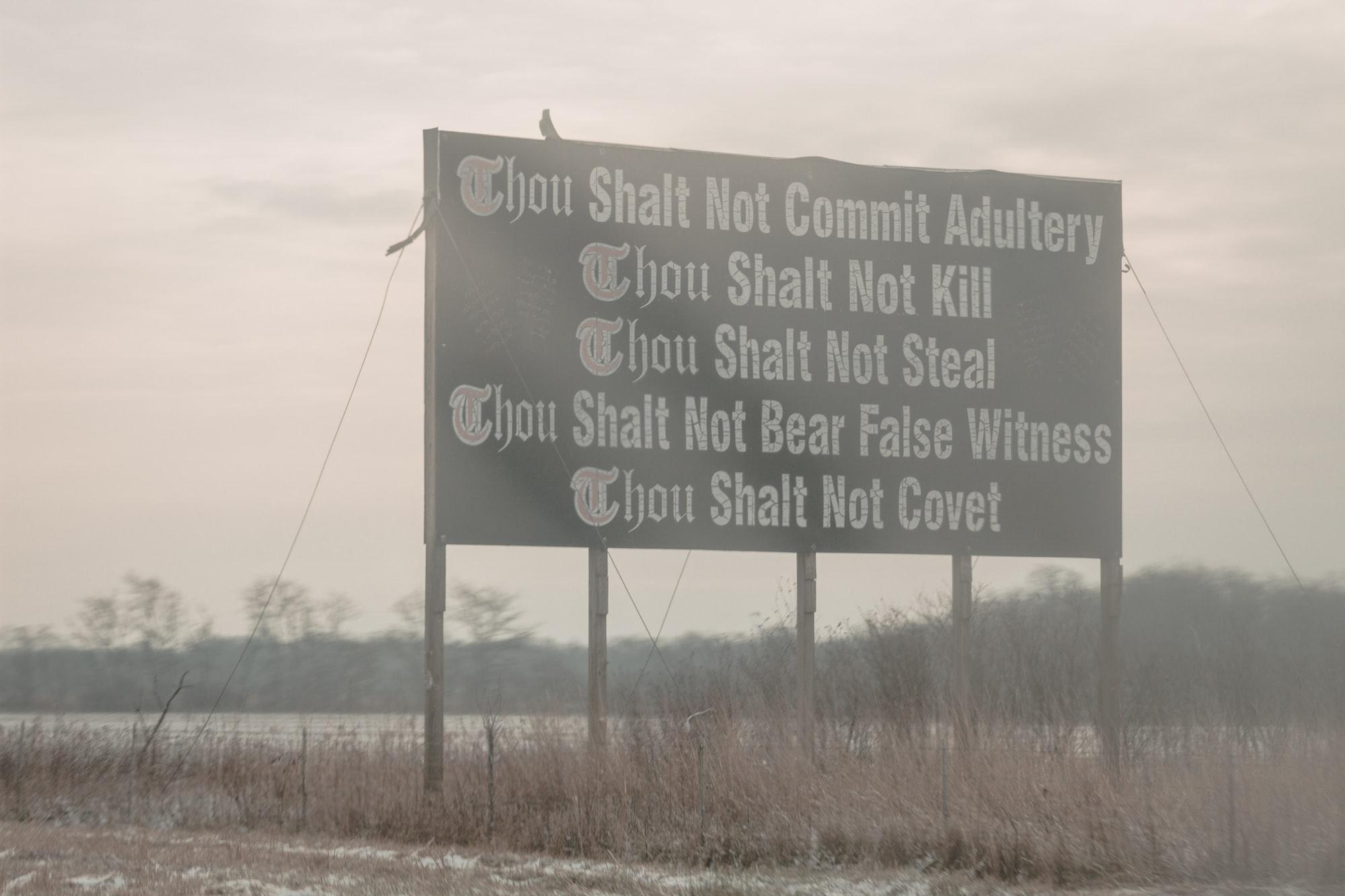 Roadside evangelism in Ohio.