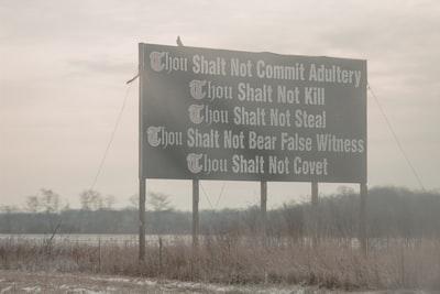 commandments signage ohio teams background