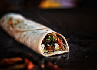 selective focus photography of taco