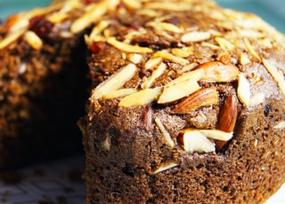 round cake with nuts