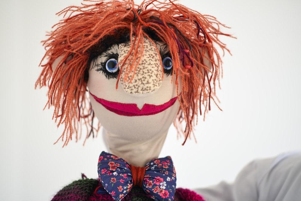 closeup photo of puppet
