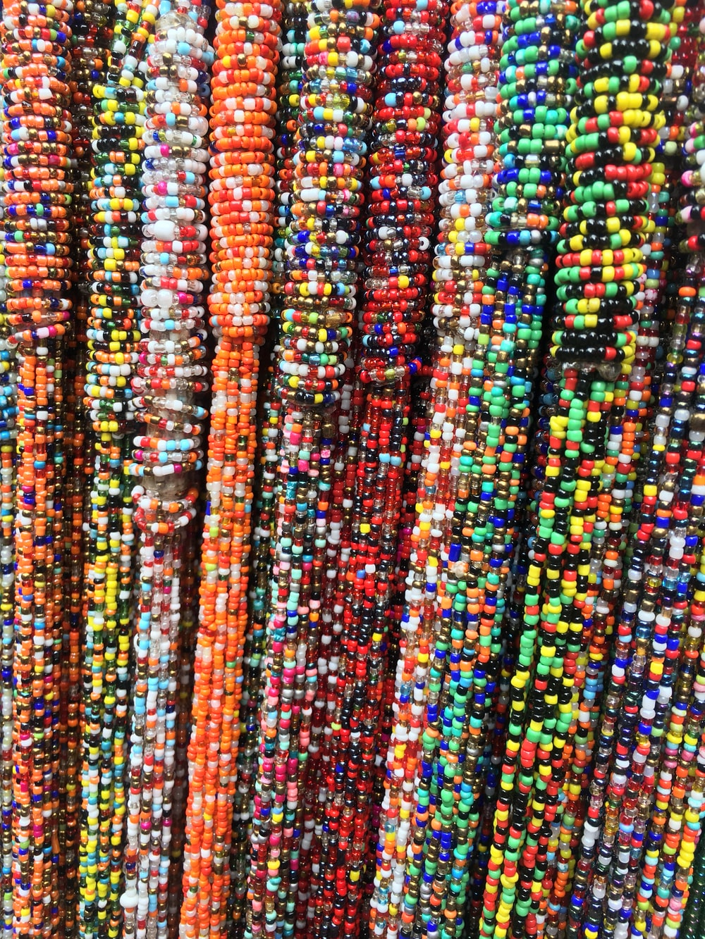 assorted-color bead lot