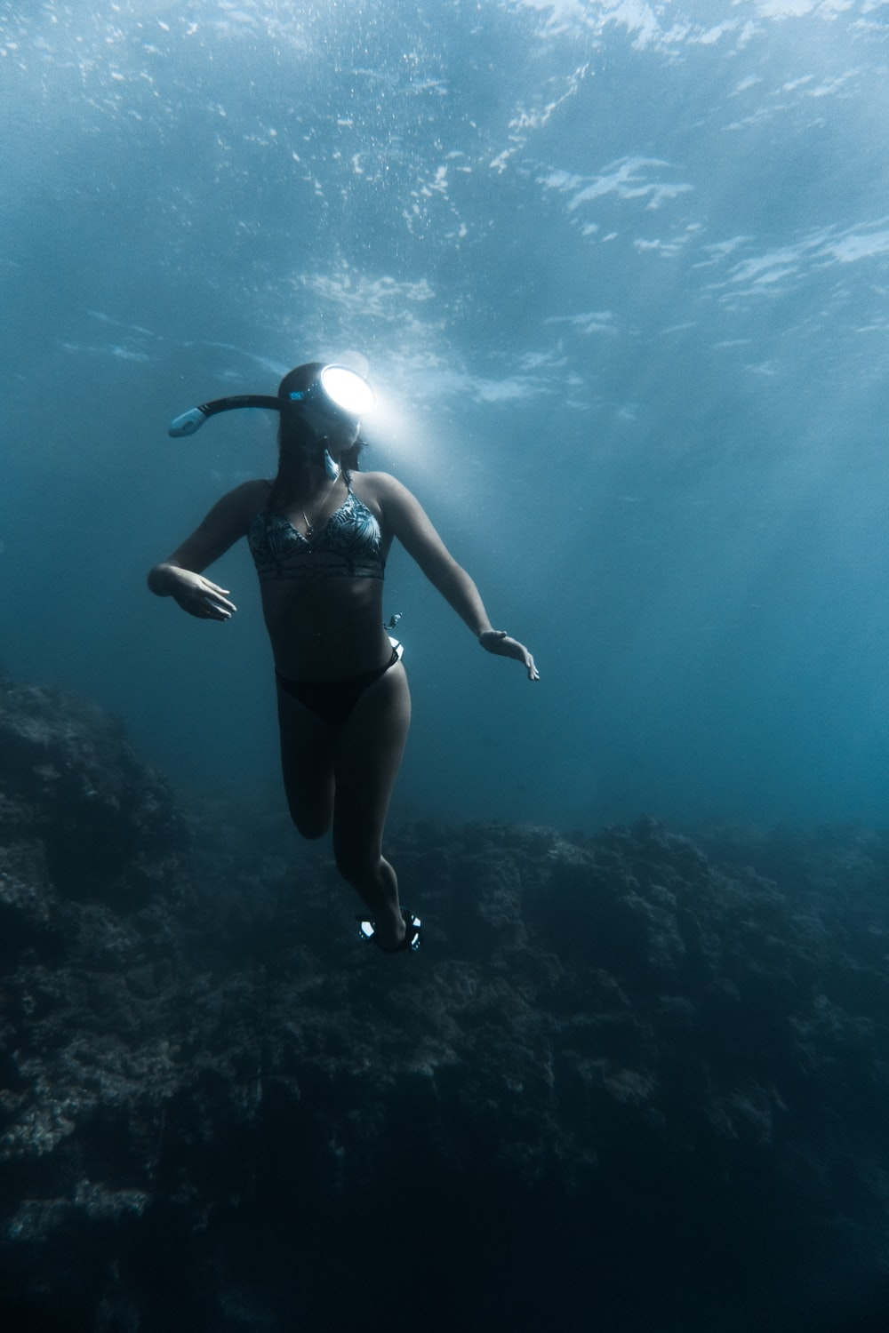 woman in free diving