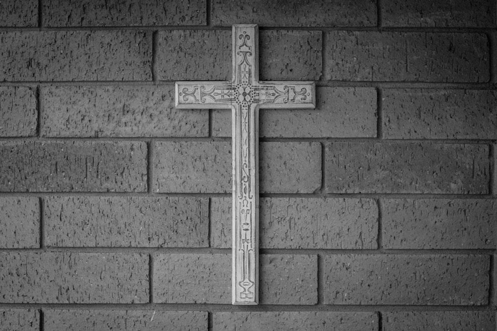 white cross hang on wall