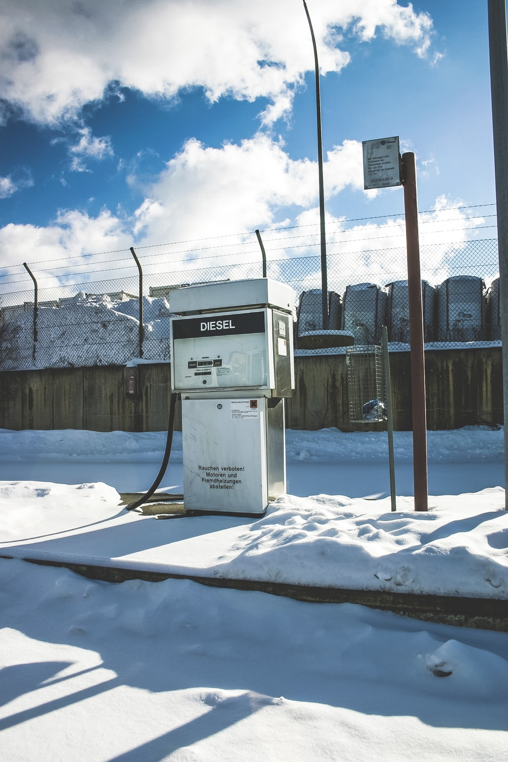 gray and black gas pump