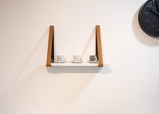 white and brown shelf