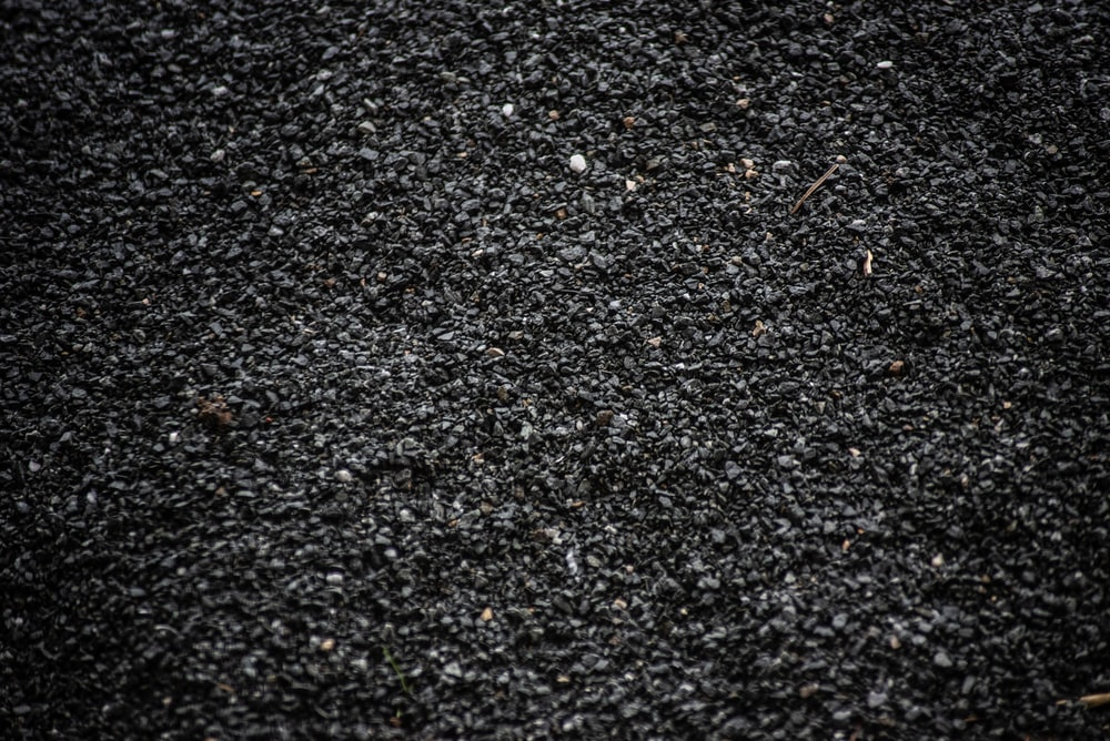 black and white pebbles on ground