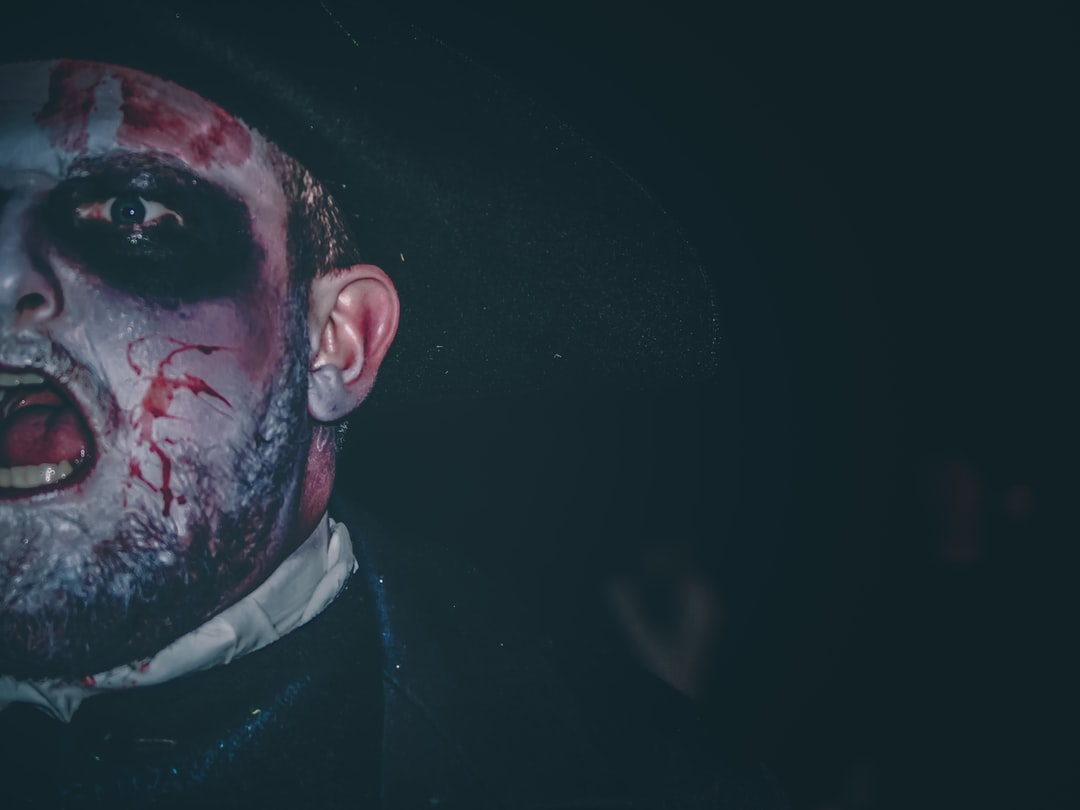 "A Victorian Ghoul entreats his audience during Derry's Halloween Festival, ""Awakening the Walls."""
