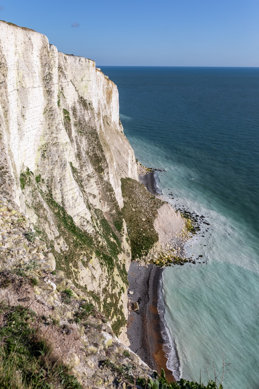 The White Cliffs of Dover with a chalky sea