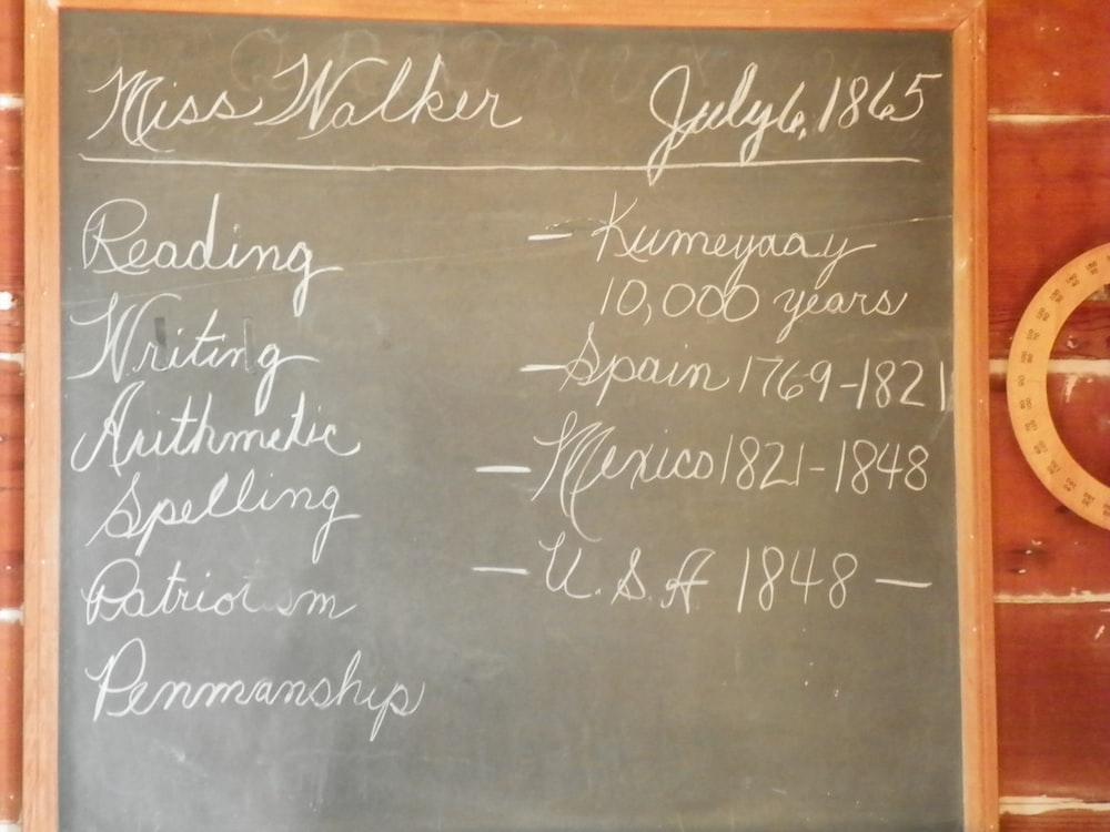 white chalk written on chalkboard